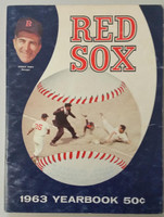 1963 Red Sox Yearbook (50 pg) Very Good Heavy scuffing on cover, contents fine, Page 48 heavy cut-outs