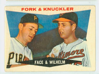 1960 Topps Baseball 115 Fork and Knuckler Good to Very Good