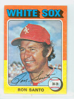 1975 Topps Mini Baseball 35 Ron Santo Chicago White Sox Good to Very Good