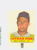 1966 Topps Rub Offs 85 Ron Santo Chicago Cubs Very Good