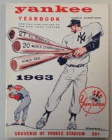 1963 Yankees Yearbook - AL Pennant Winning Team (50 pgs) Excellent Lt wear on cover, stray pen mark; ow clean