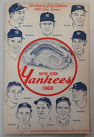 1960 Yankees Program vs Red Sox (24 pg) Scored Jun 5 Ditmar vs Bowsfield (NY 8-3, Maris 2 for 4) Very Good [Scuffing and lt pencil MK on cover, sl compact fold, rev cover faded]