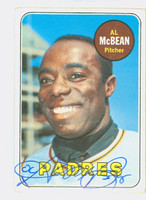 Al McBean AUTOGRAPH 1969 Topps #14 Padres CARD IS VG; CRN WEAR, AUTO CLEAN