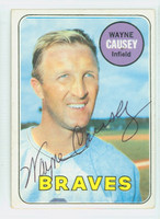 Wayne Causey AUTOGRAPH 1969 Topps #33 Braves CARD IS G/VG; CRN WEAR, AUTO CLEAN