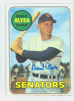 Brant Alyea AUTOGRAPH 1969 Topps #48 Senators CARD IS CLEAN EX; INK ON REVERSE