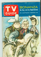 1965 TV Guide Sep 4 Bonanza Eastern New England edition Very Good - No Mailing Label  [Heavy scuffing and creasing on cover; contents fine]