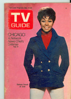1968 TV Guide Dec 14 Diahann Carroll of Julia Iowa edition Very Good to Excellent - No Mailing Label  [Wear and scuffing along binding and cover, contents fine]