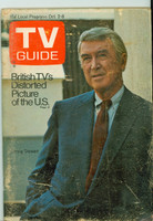 1971 TV Guide October 2 Jimmy Stewart Oklahoma edition Very Good - No Mailing Label  [Heavy scuffing and lt creasing on cover; contents fine]