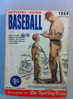 1964 TSN Official Baseball Guide - Stan Musial drawing on cover Good to Very Good [Cover wear, stray writing on cover, contents great]