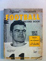 1953 Official Collegiate Football Record Book (190 pg) (Leon Hardeman, GA Tech on cover) Fair to Good [Moderate soiling on cover; spine, contents fine]