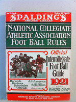 1921 Official NCAA Football Guide (309 pg) Very Good to Excellent [Very clean for vintage, solid spine, clean cover and contents]