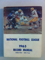 NFL 1963 Record Manual (Jim Taylor of GB Packers on cover) Good to Very Good [Minor wear on cover, sm paper loss on reverse; contents fine]