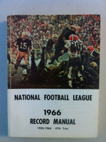 NFL 1966 Record Manual (Bart Starr of GB Packers on cover) Excellent [Lt wear on cover, contents great]