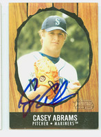 Casey Abrams AUTOGRAPH 2003 Bowman Heritage 1958 Hires Design Mariners 