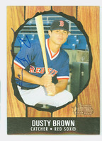 Dusty Brown AUTOGRAPH 2003 Bowman Heritage 1958 Hires Design Red Sox 