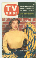 1953 TV Guide Nov 27 Life of Riley Pittsburgh edition Very Good to Excellent  [Wear, scuffing and creasing on cover, label on reverse]