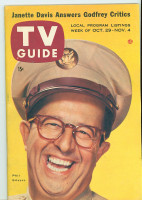 1955 TV Guide Oct 29 Phil Silvers as Sgt Bilko (First Cover) Cleveland edition Excellent to Mint - No Mailing Label  [Very lt wear on cover, ow very clean]