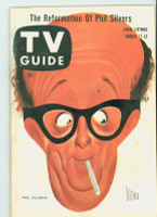 1957 TV Guide Aug 17 Phil Silvers Pittsburgh edition Excellent to Mint - No Mailing Label  [Lt toning along binding, ow very clean]
