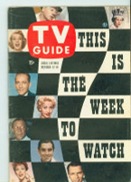 1957 TV Guide Oct 12 This Is The Week To Watch Southern Ohio edition Excellent - No Mailing Label  [Lt wear on cover; ow clean]