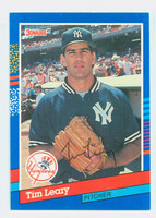 Tim Leary AUTOGRAPH 1991 Donruss Yankees   [SKU:LearT10428_DON91BB]