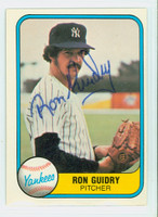Ron Guidry AUTOGRAPH 1981 Fleer #88 Yankees 