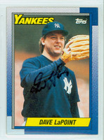 Dave LaPoint AUTOGRAPH 1990 Topps Yankees   [SKU:LaPoD6746_T90BB]