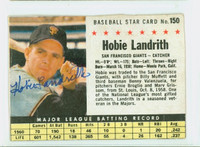 Hobie Landrith AUTOGRAPH 1961 Post #150 Giants BOX CARD IS POOR, CREASES, GLUE RESIDUE ON REVERSE  [SKU:LandH4334_PO61BBVajl]
