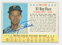 Roy Face AUTOGRAPH 1963 Post #147 Pirates CARD IS CLEAN VG, EDGE IS OVER CLIPPED  [SKU:FaceR1218_PO63BBjl]