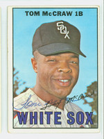 Tommy McCraw AUTOGRAPH 1967 Topps #29 White Sox CARD IS VG; AUTO CLEAN, CRN WEAR  [SKU:McCrT1630_T67BBC]