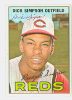 Dick Simpson AUTOGRAPH 1967 Topps #6 Reds CARD IS CLEAN VG; CRN WEAR  [SKU:SimpD1290_T67BBC]
