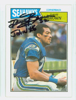 Dave Brown AUTOGRAPH d.06 1987 Topps Football Seahawks 
