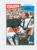 Mike Rozier AUTOGRAPH 1987 Topps Football Oilers   [SKU:RoziM52237_T87FB]