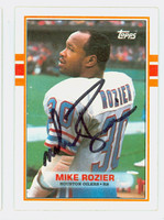 Mike Rozier AUTOGRAPH 1989 Topps Football Oilers   [SKU:RoziM52237_T89FB]