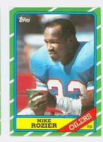 Mike Rozier AUTOGRAPH 1986 Topps Football Oilers   [SKU:RoziM52237_T86FB]