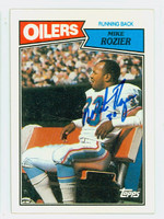 Mike Rozier AUTOGRAPH 1987 Topps Football Oilers   [SKU:RoziM52237_T87FBi2]