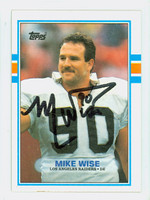 Mike Wise AUTOGRAPH d.92 1989 Topps Football Raiders   [SKU:WiseM52255_T89FB]