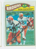 Don Cockroft AUTOGRAPH 1977 Topps Football #304 Browns CARD IS G/VG: LT CREASE  [SKU:CockD50302_T77FB]