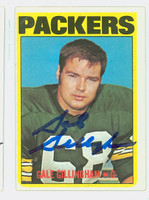 Gale Gillingham AUTOGRAPH d.11 1972 Topps Football #231 Packers CARD IS G/VG: CRN CREASE, AUTO CLEAN  [SKU:GillG50596_T72FB]