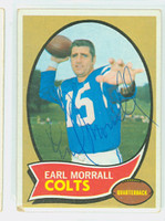 Earl Morrall AUTOGRAPH d.14 1970 Topps Football #88 Colts CARD IS G/VG: CRN WEAR  [SKU:MorrE51202_T70FBgvg]