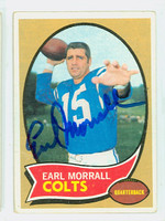 Earl Morrall AUTOGRAPH d.14 1970 Topps Football #88 Colts CARD IS F/G; LT CREASES  [SKU:MorrE51202_T70FBfg]