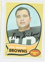 Ron Snidow AUTOGRAPH d.09 1970 Topps Football #194 Browns CARD IS CLEAN EX/MT  [SKU:SnidR51626_T70FBem]