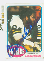 Clarence Williams AUTOGRAPH 1976 Topps Football #282 Packers CARD IS G/VG: CRN WEAR  [SKU:WillC52215_T76FB]