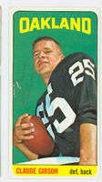 Claude Gibson AUTOGRAPH 1965 Topps Football #140 Raiders CARD IS CLEAN EX