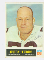 Jerry Tubbs AUTOGRAPH d.12 1965 Philadelphia #55 Cowboys CARD IS CLEAN VG/EX