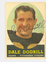 Dale Dodrill AUTOGRAPH 1958 Topps Football #46 Steelers CARD IS G/VG: LT CREASES, AUTO CLEAN