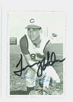 Tommy Helms AUTOGRAPH 1969 Topps Deckles #20 Reds 