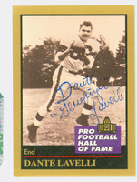 Dante Lavelli AUTOGRAPH d.09 1991 Pro Football Hall of Fame card Browns HOF '75   [SKU:LaveD50981_MODFB]