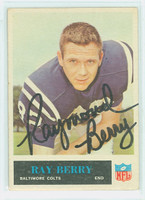 Raymond Berry AUTOGRAPH 1965 Philadelphia #2 Colts HOF '73 CARD IS CLEAN VG/EX; LT CRN WEAR