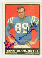 Gino Marchetti AUTOGRAPH 1961 Topps Football #7 Colts HOF '92 CARD IS CLEAN EX