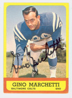 Gino Marchetti AUTOGRAPH 1963 Topps Football #8 Colts HOF '92 CARD IS CLEAN EX